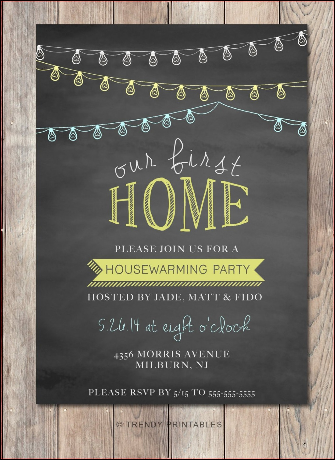 Housewarming Party Invitation Layout