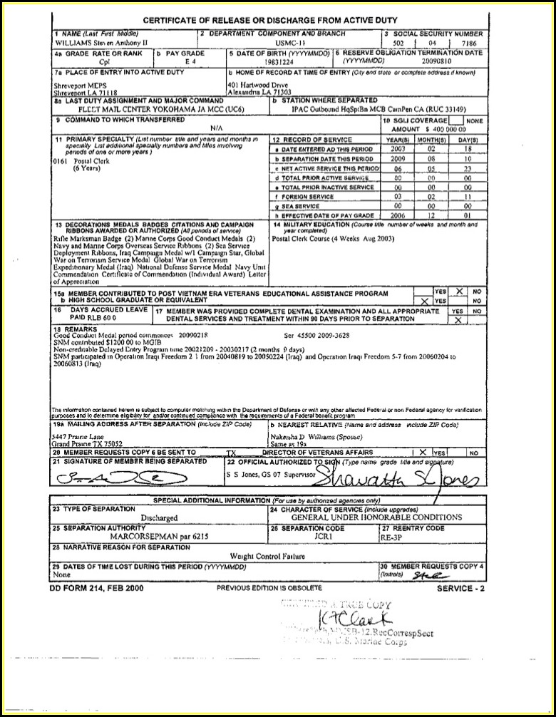 How To Get A Copy Of Dd214 Form