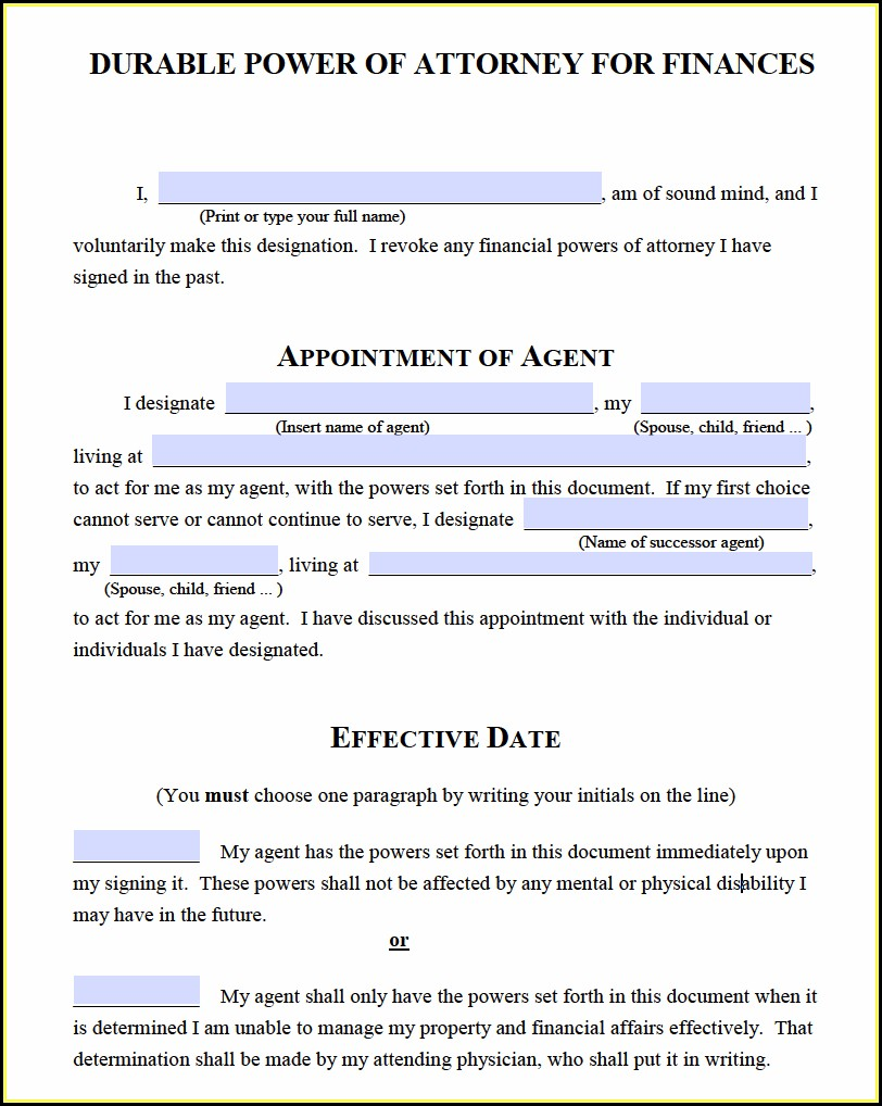 How To Get A Durable Power Of Attorney Form