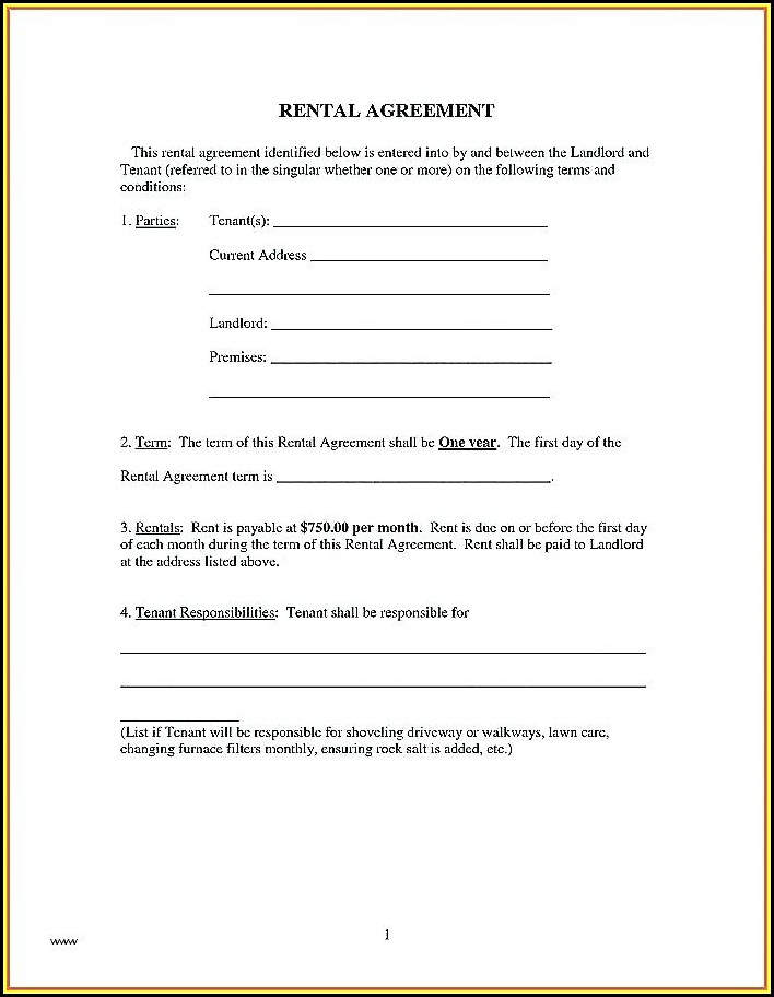 Illinois Residential Lease Application Form