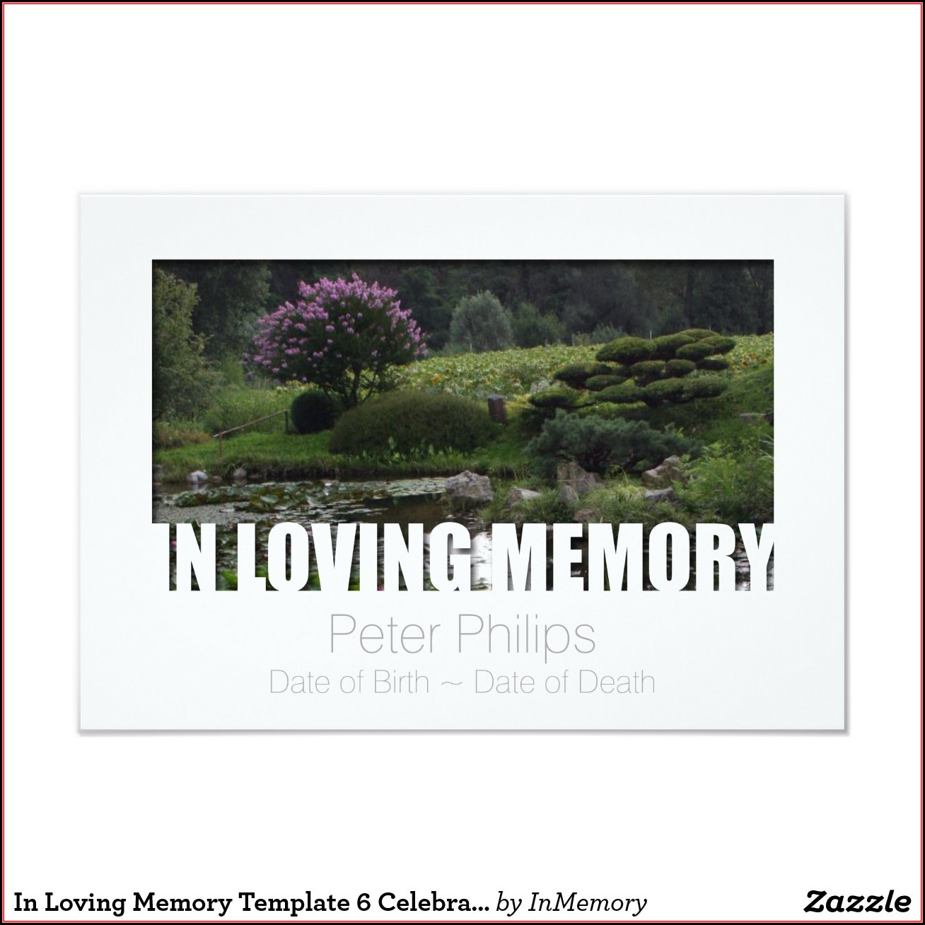 In Loving Memory Cards Template