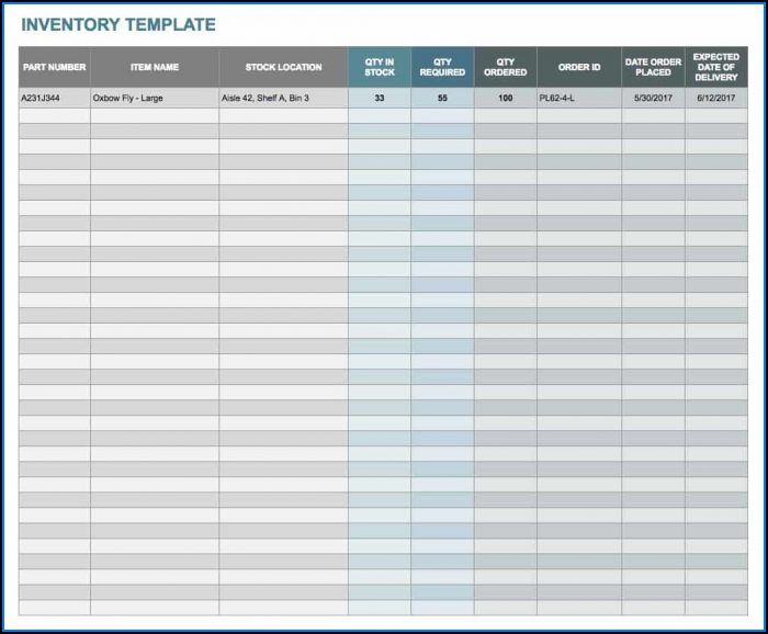 Inventory Spreadsheet Templates