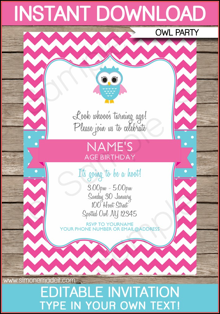 Invitation Templates Free Download Birthday