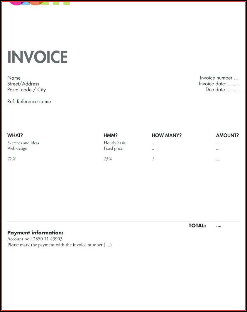 Invoice Format In Openoffice
