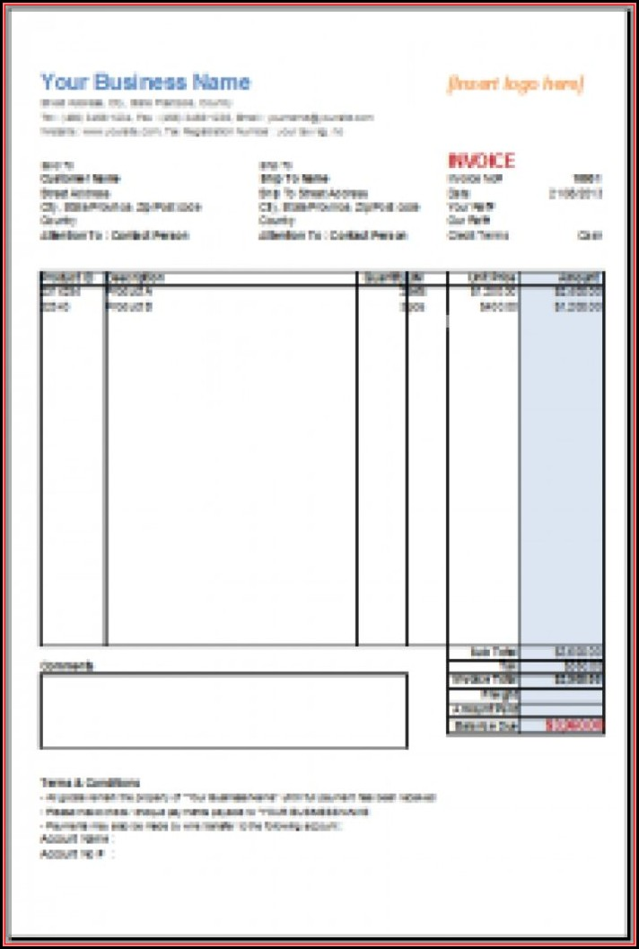 Invoice Template For Apache Open Office
