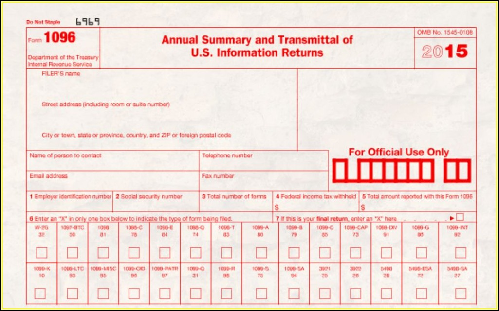 Irs Form 1096 Pdf