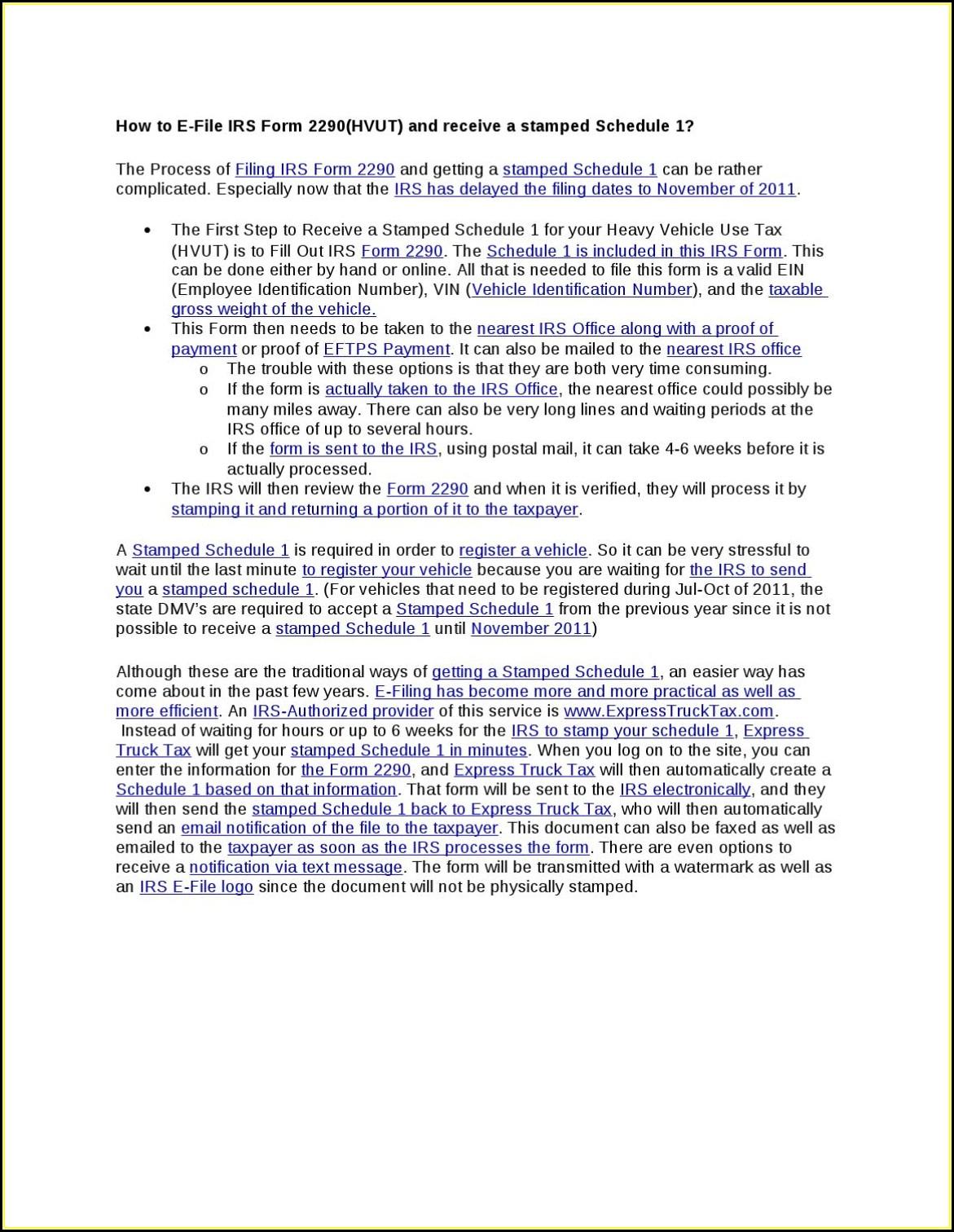 Irs Form 2290 E File