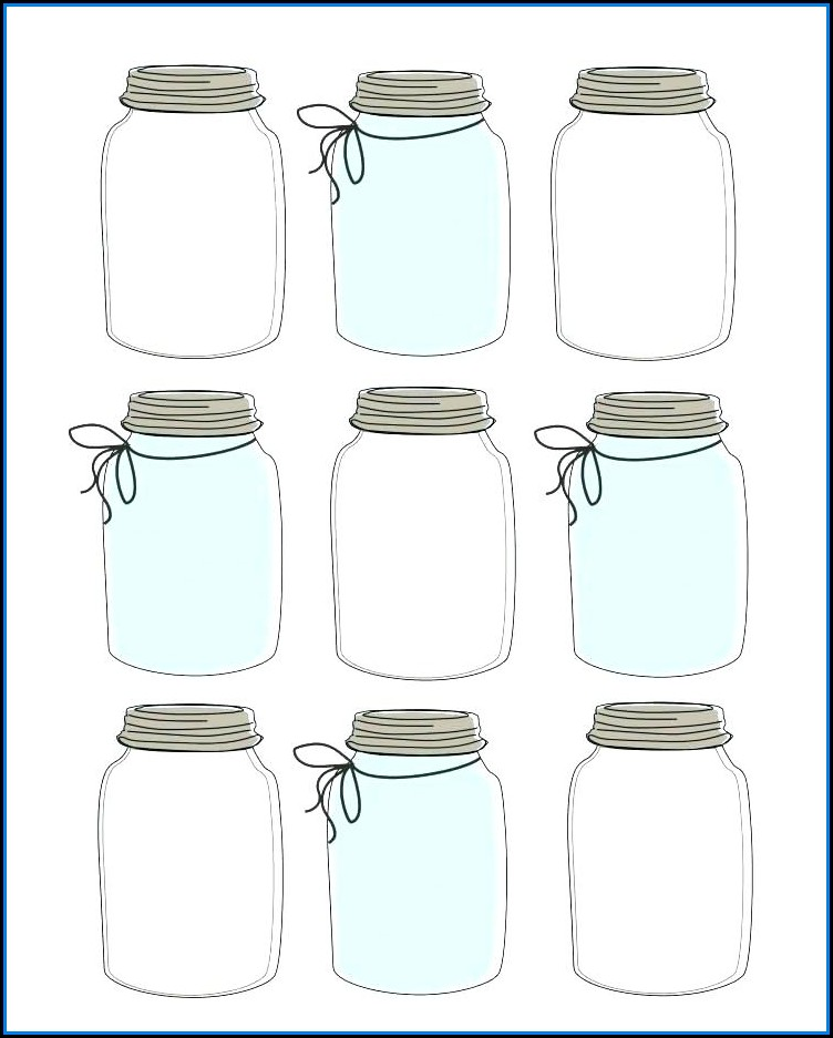 Mason Jar Invite Template Free