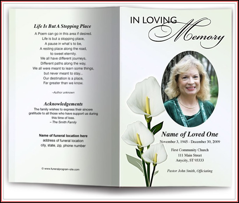 Memorial Card Template Indesign