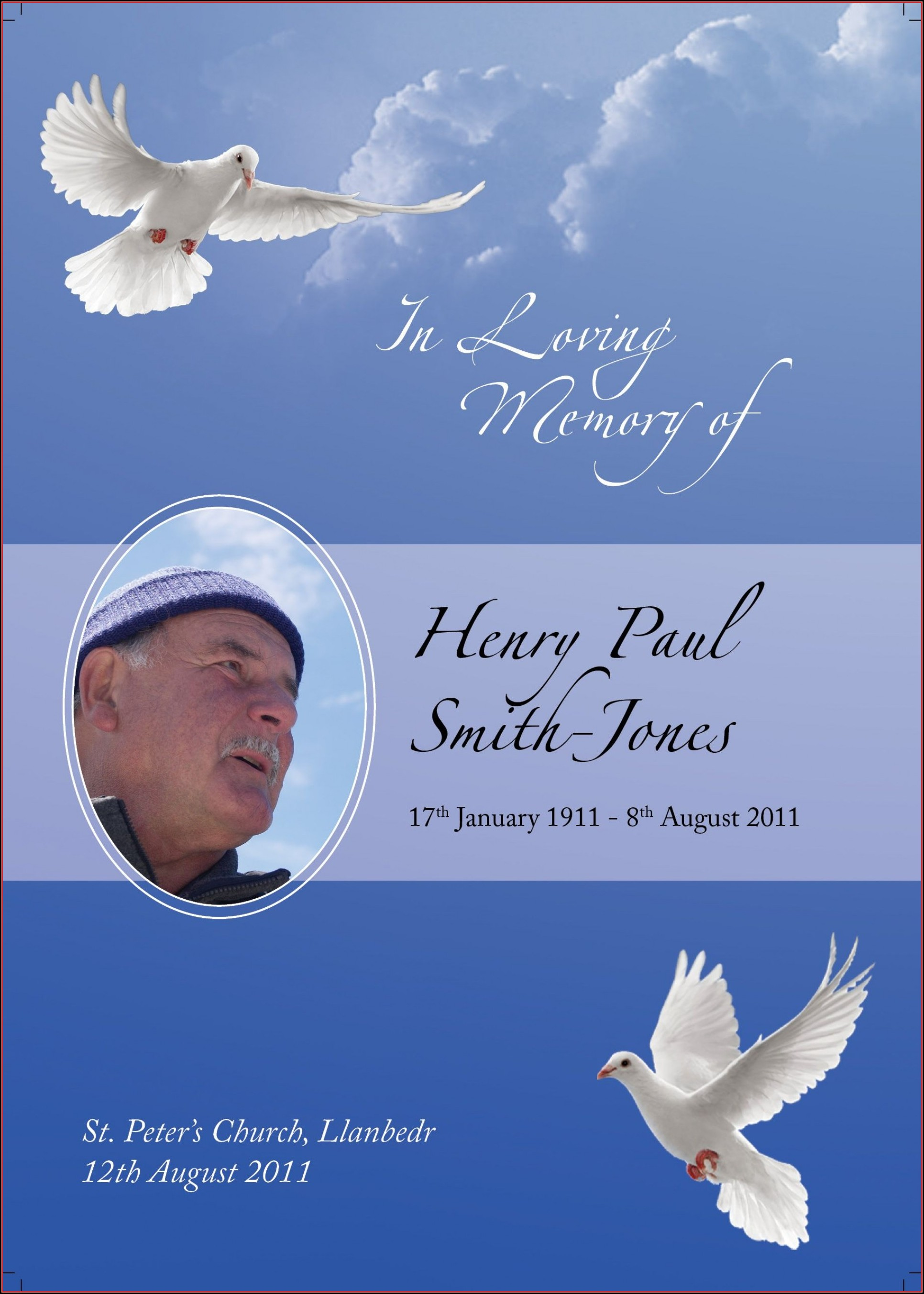 Memorial Cards Template Downloads