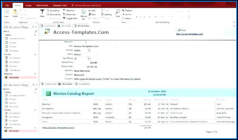 Microsoft Access Project Management Database Template Download