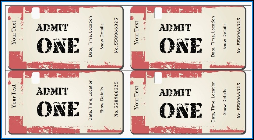 Movie Ticket Gift Certificate Template