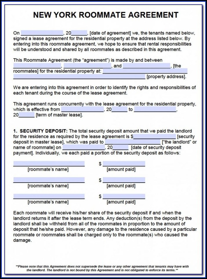New York City Residential Lease Agreement Form