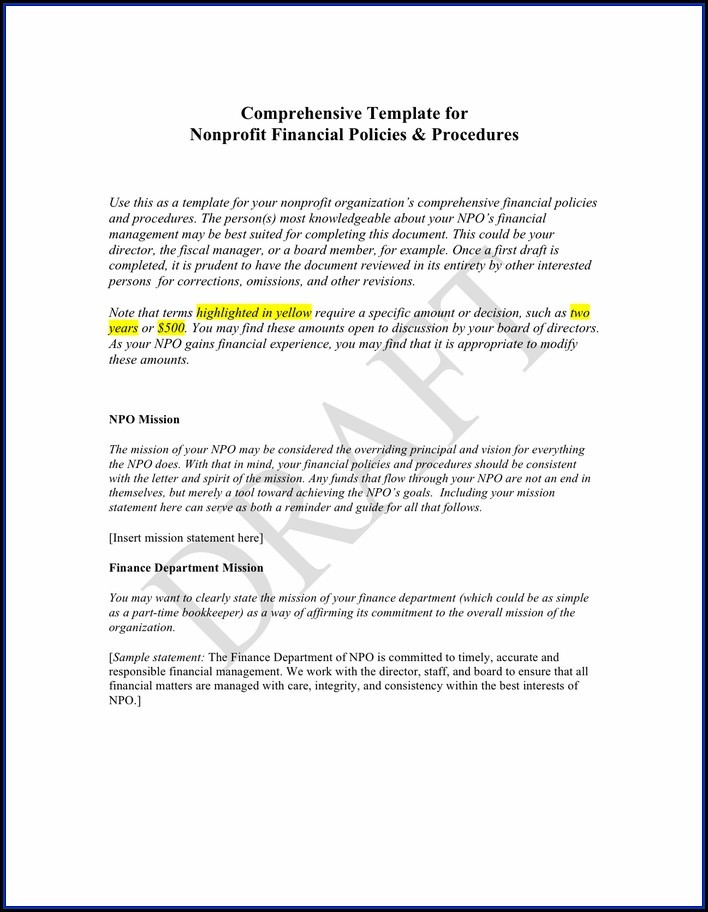 Nonprofit Document Retention Policy Template