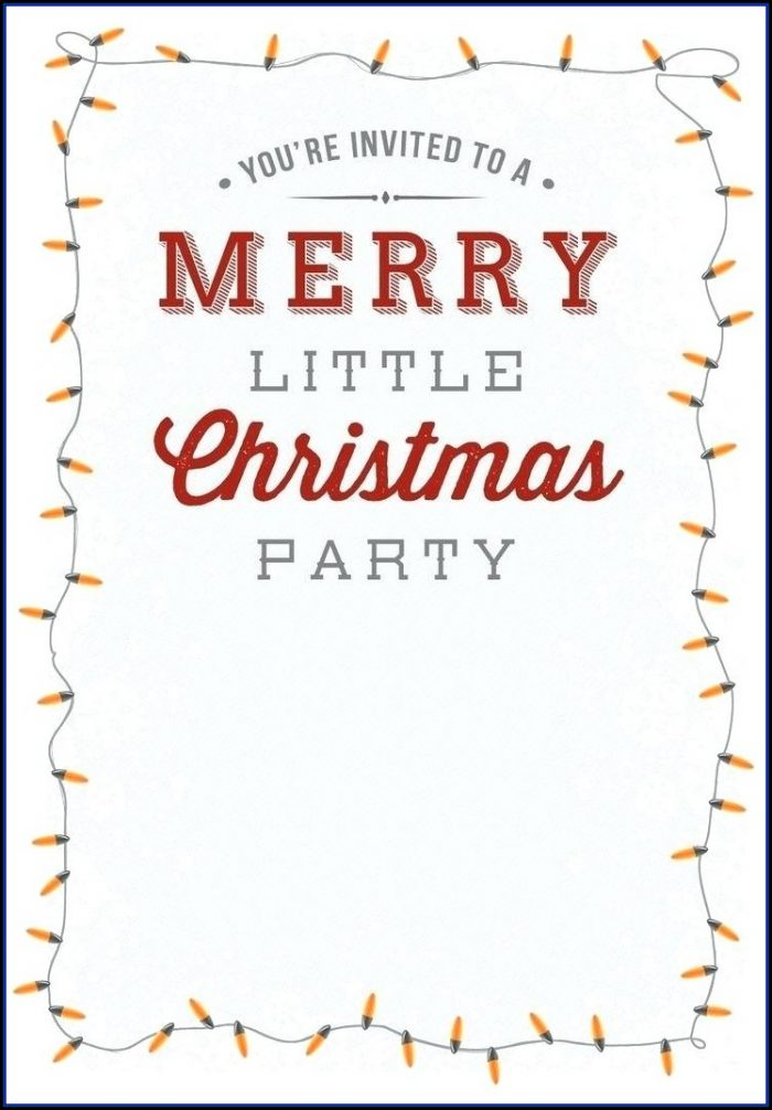 Office Christmas Dinner Invitation Template