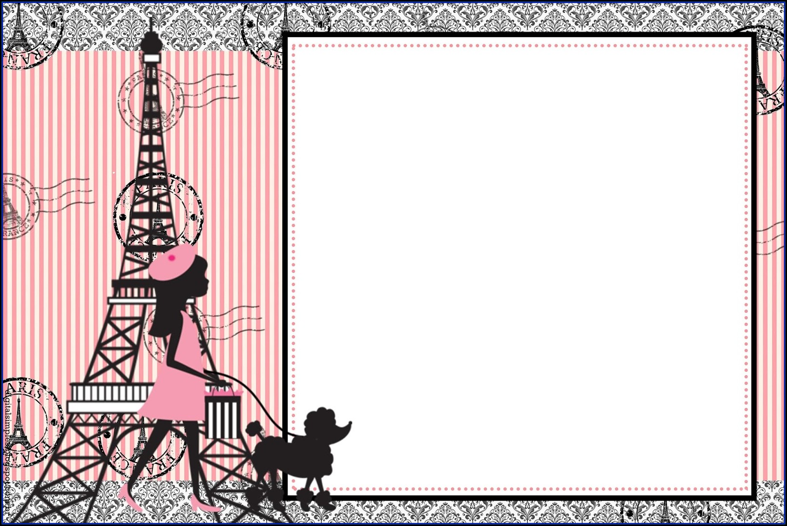 Paris Invitations Templates Free