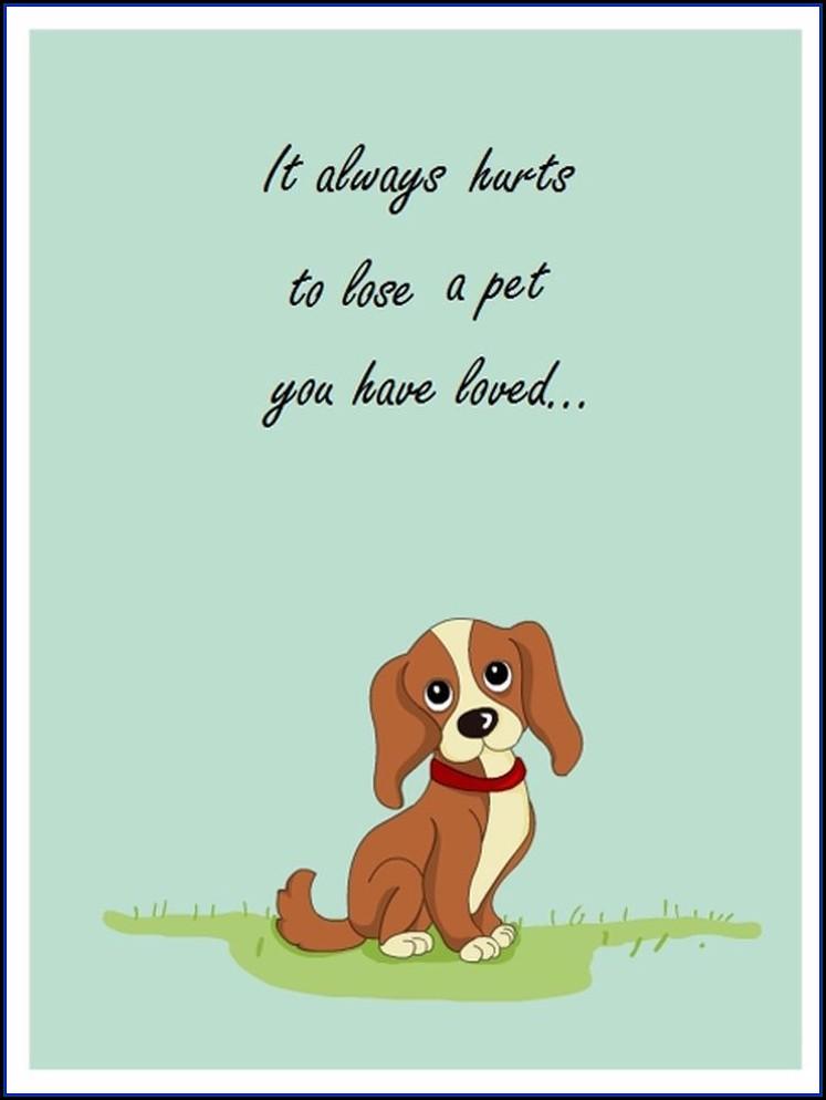 Pet Sympathy Card Template