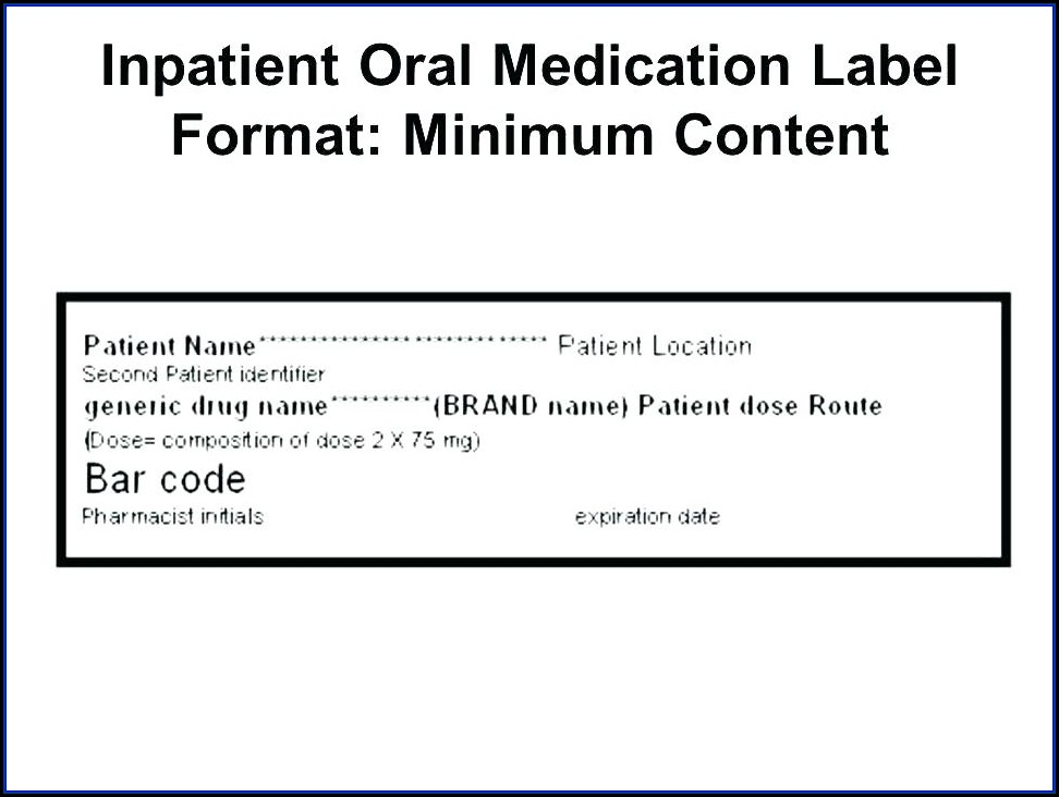 Pill Bottle Label Template Word