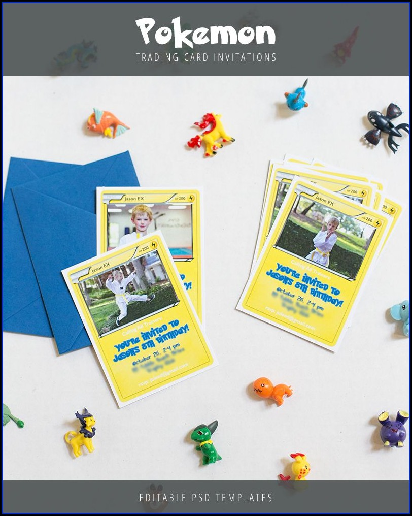 Pokemon Card Birthday Invitation Template