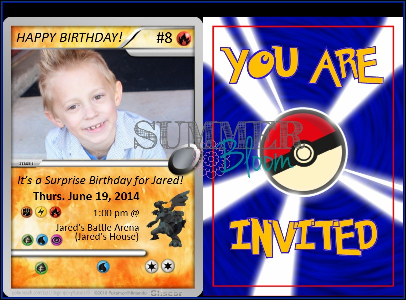 Pokemon Card Invitation Template