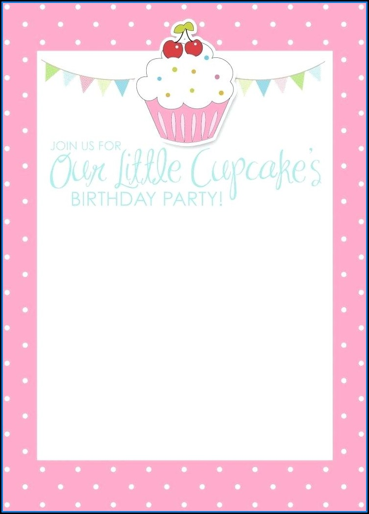 Polka Dot Birthday Party Invitation Template
