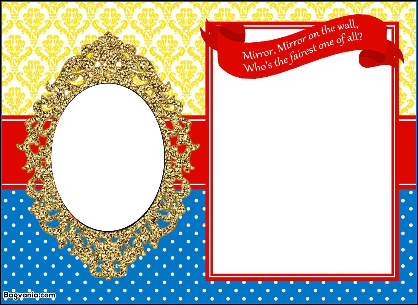Princess Mirror Invitation Template