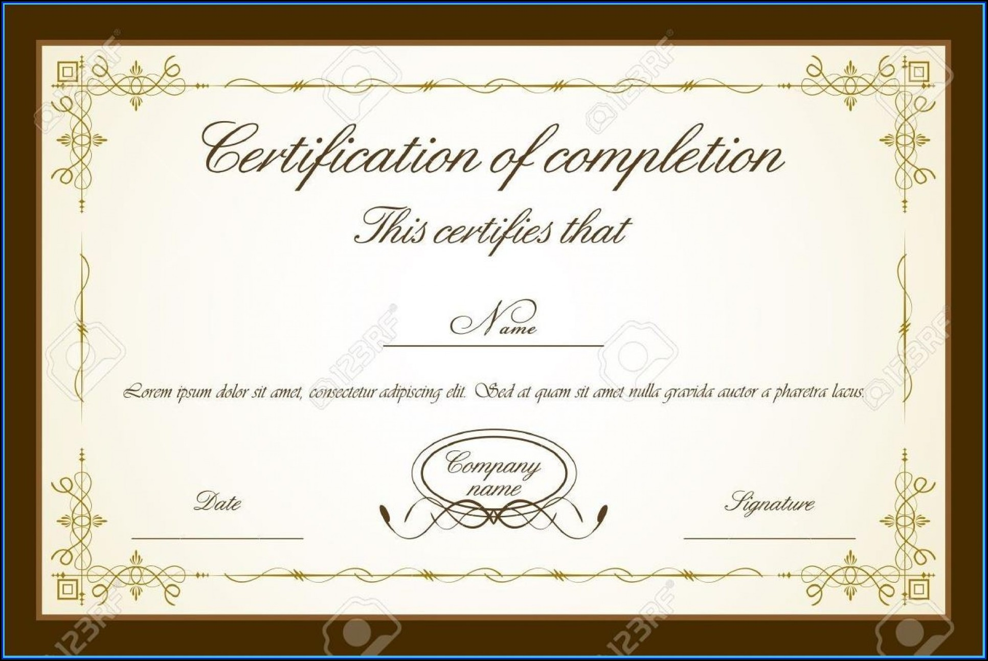 Printable Certificate Template Free