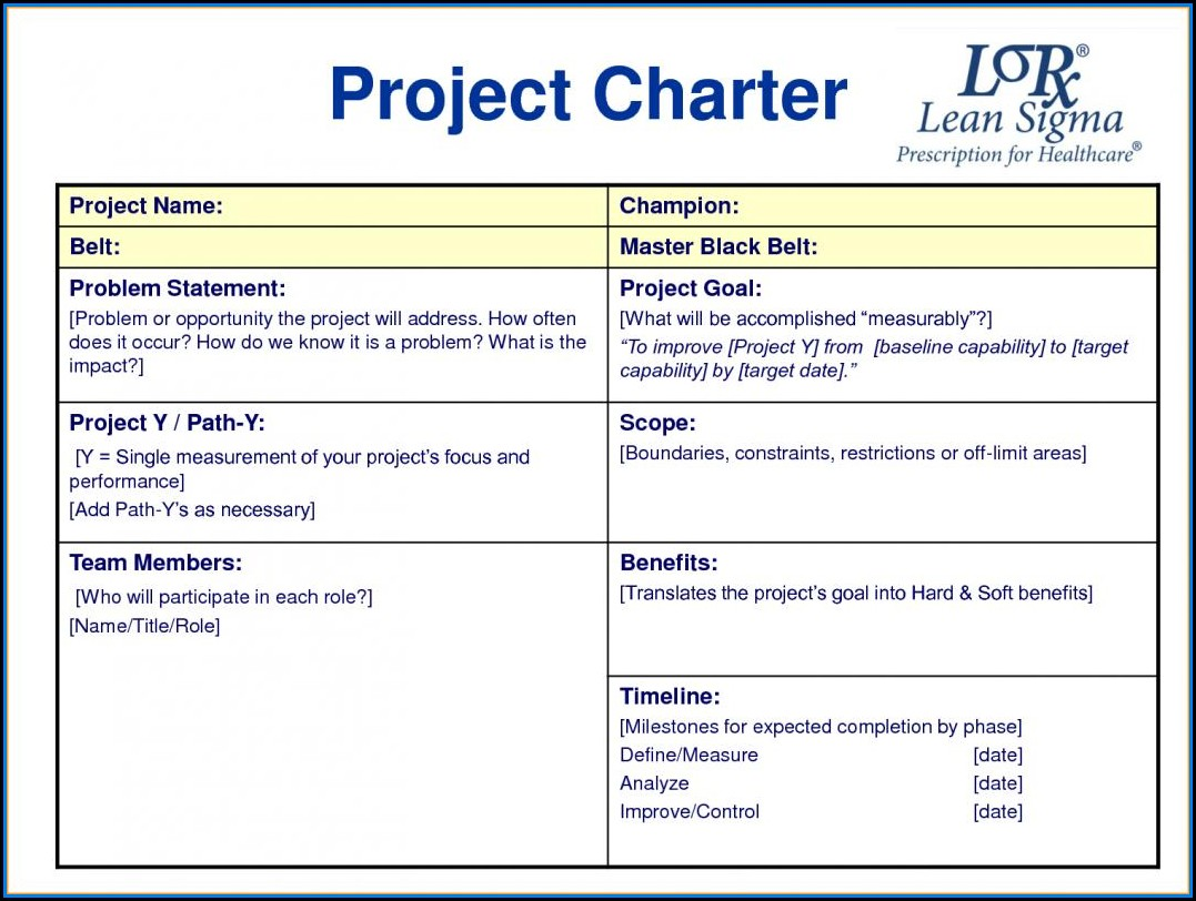 Project Management Word Document Templates
