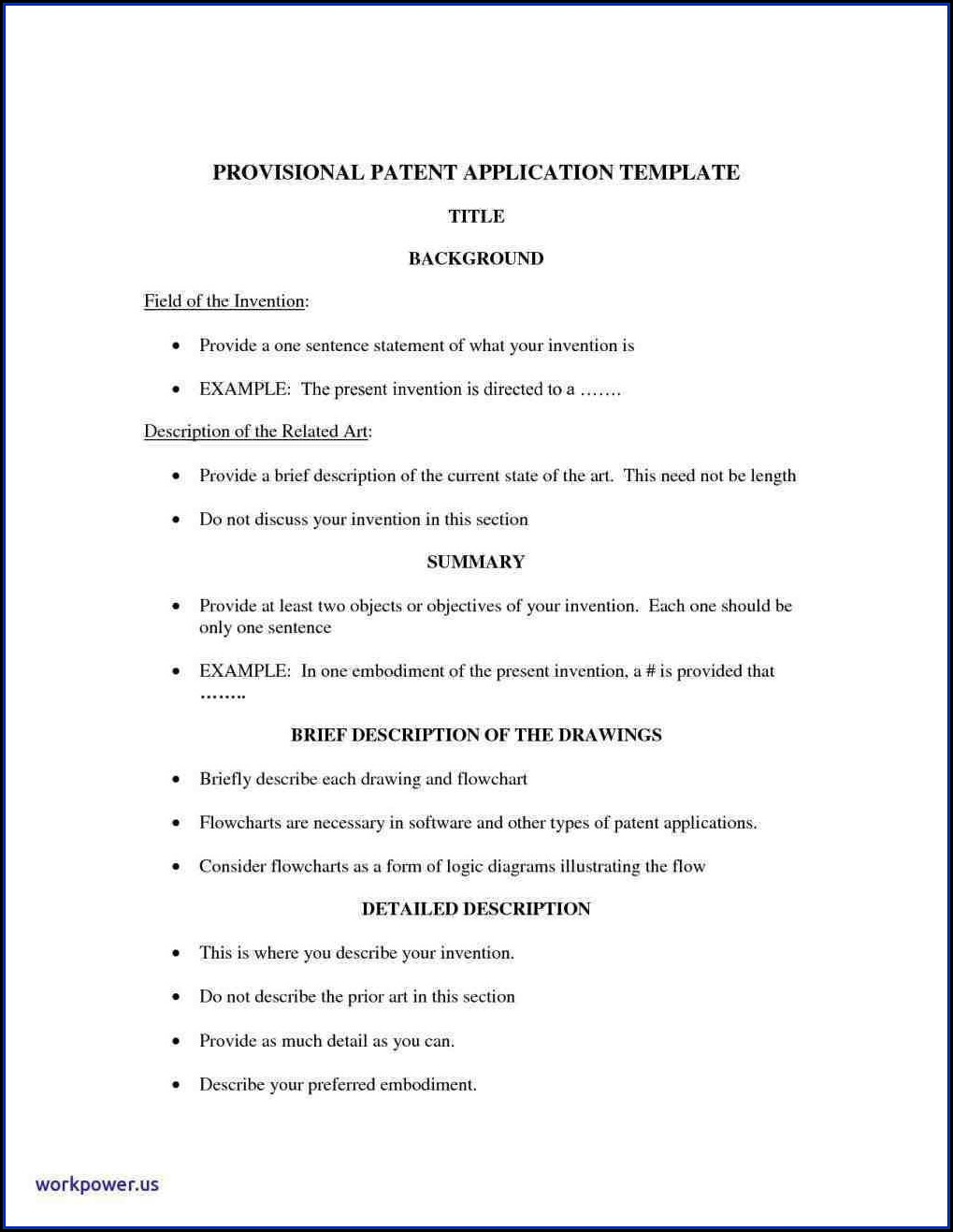 Provisional Patent Application Template India