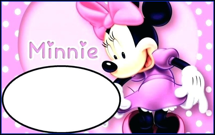 Red Minnie Mouse Invitation Template Free Download