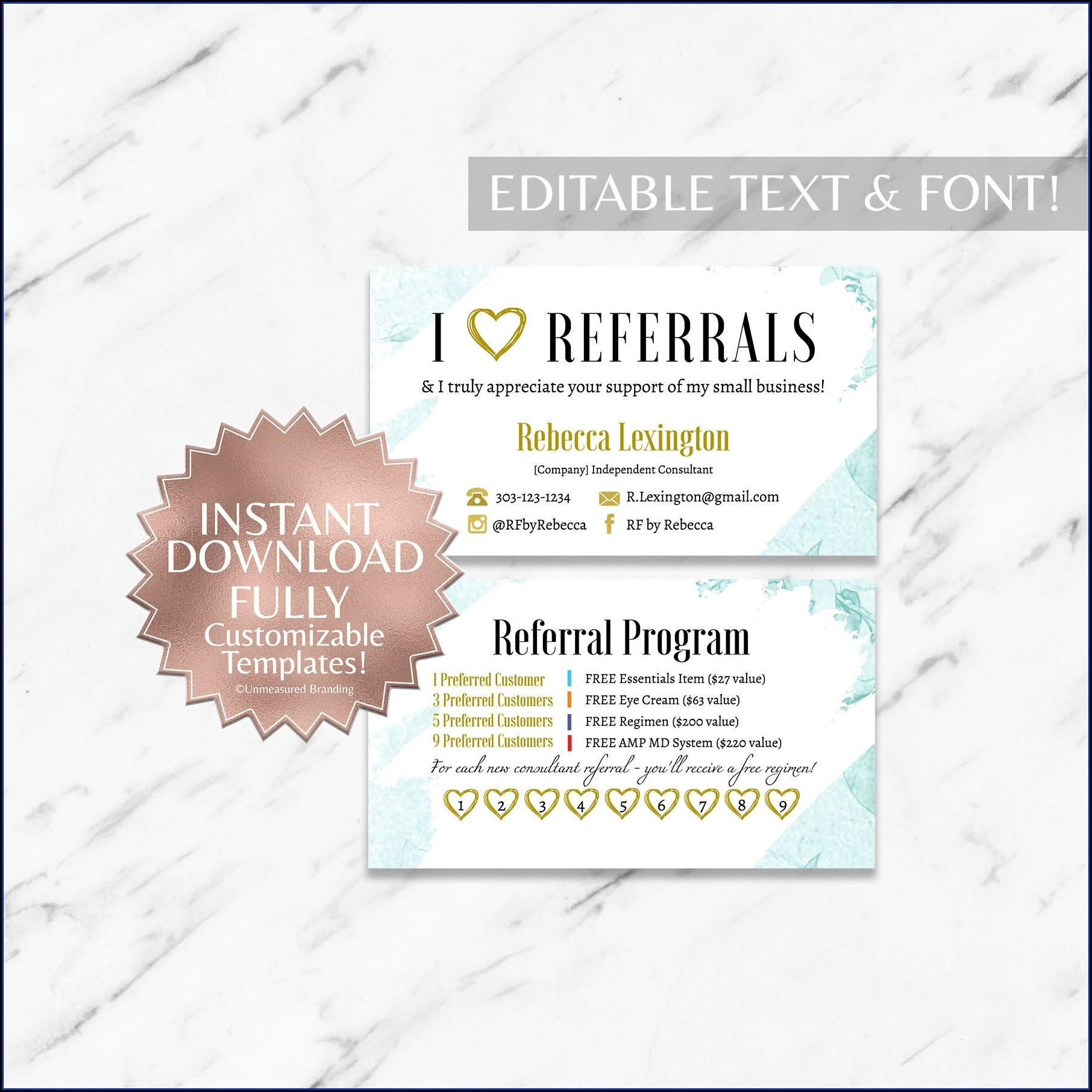 Referral Card Template