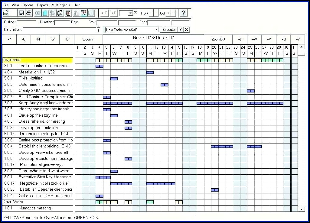 Resource Demand Planning Template Excel