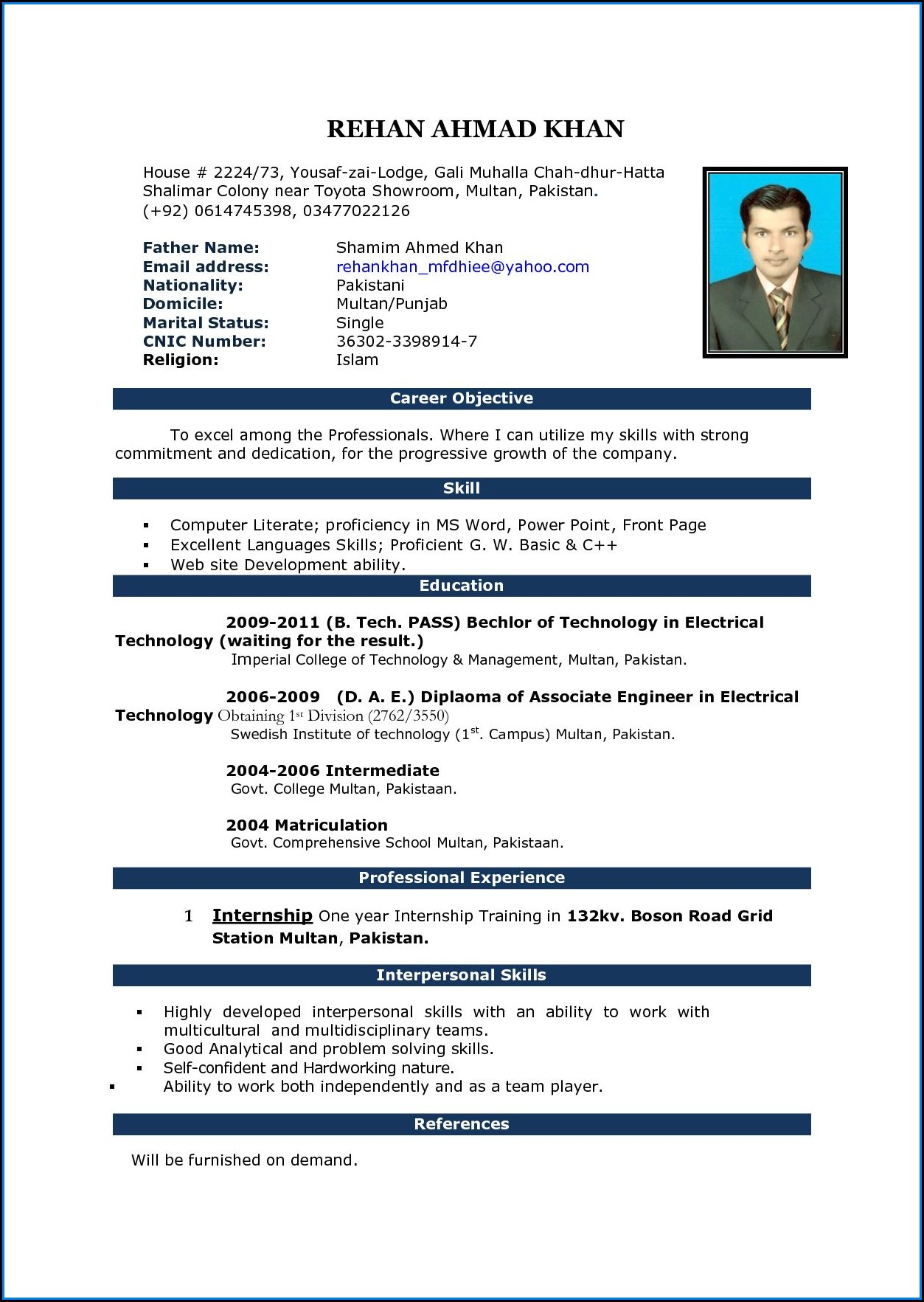 Resume Templates Microsoft Word Download