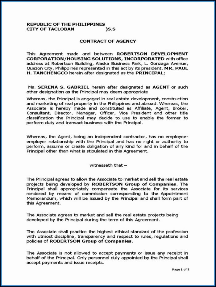 Sample Independent Contractor Agreement Template
