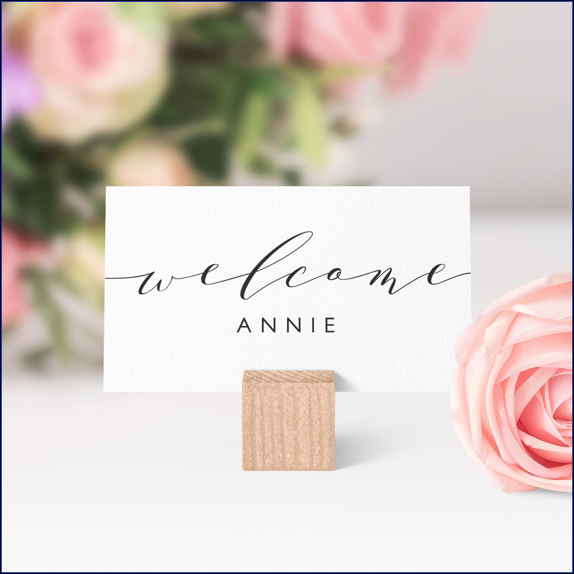 Seating Card Template Word