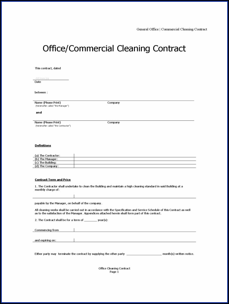 Service Contract Template Microsoft Word