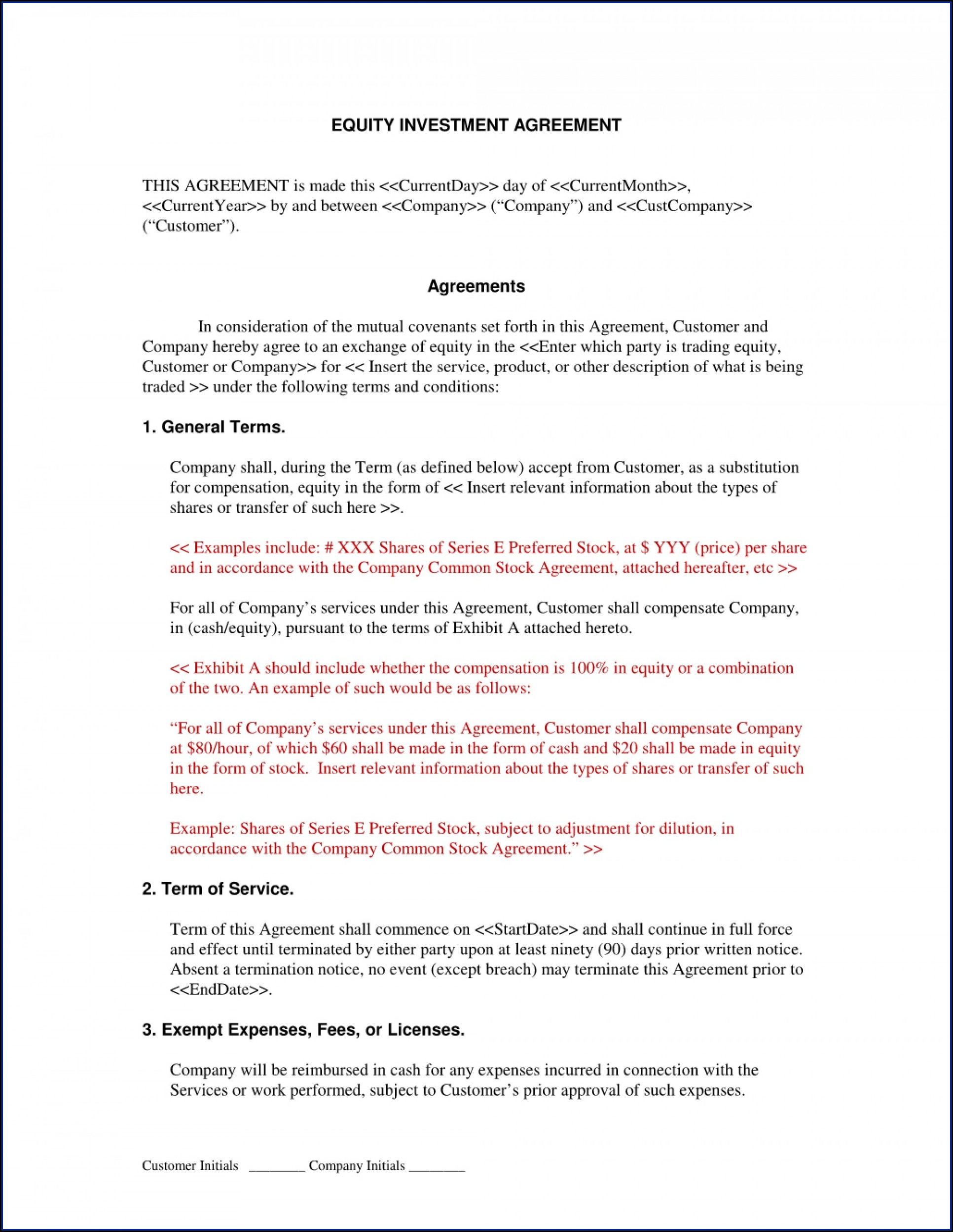 Simple Equipment Loan Agreement Template Free