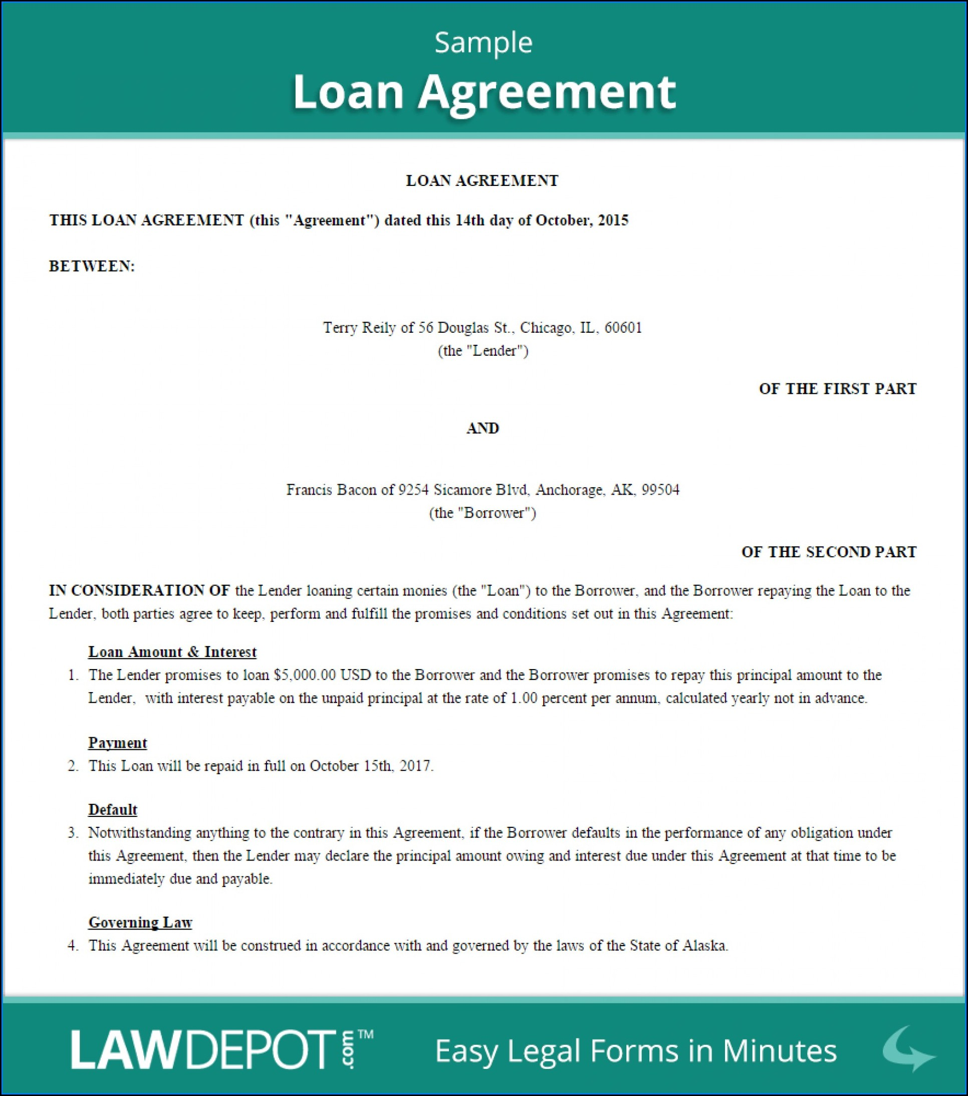 Standard Loan Agreement Template