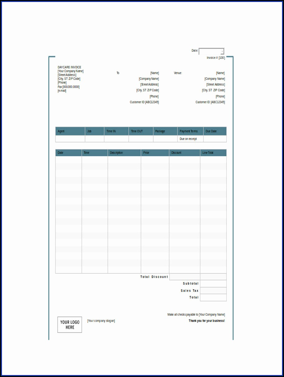 Templates For Invoices And Receipts