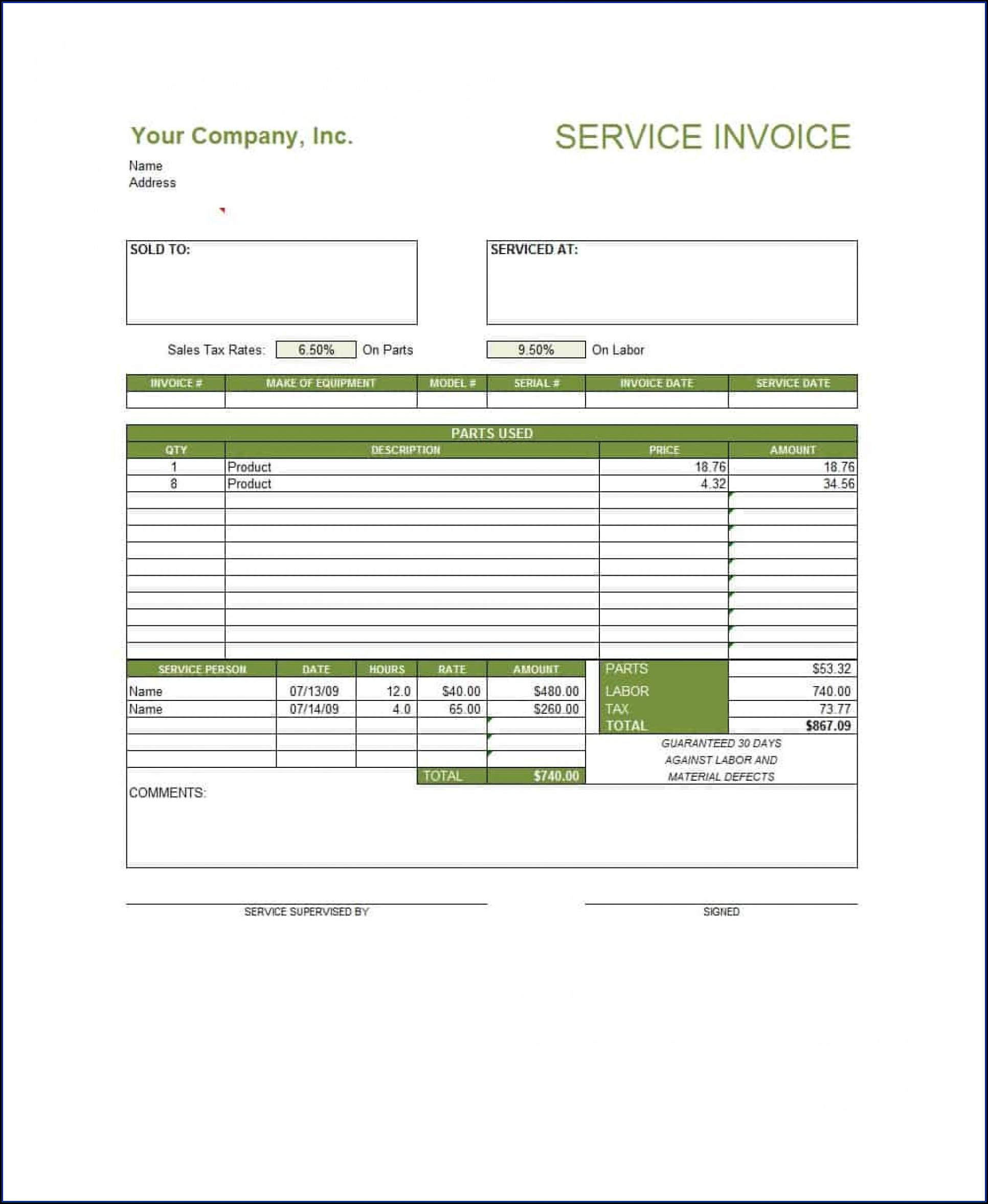 Templates For Invoices In Word