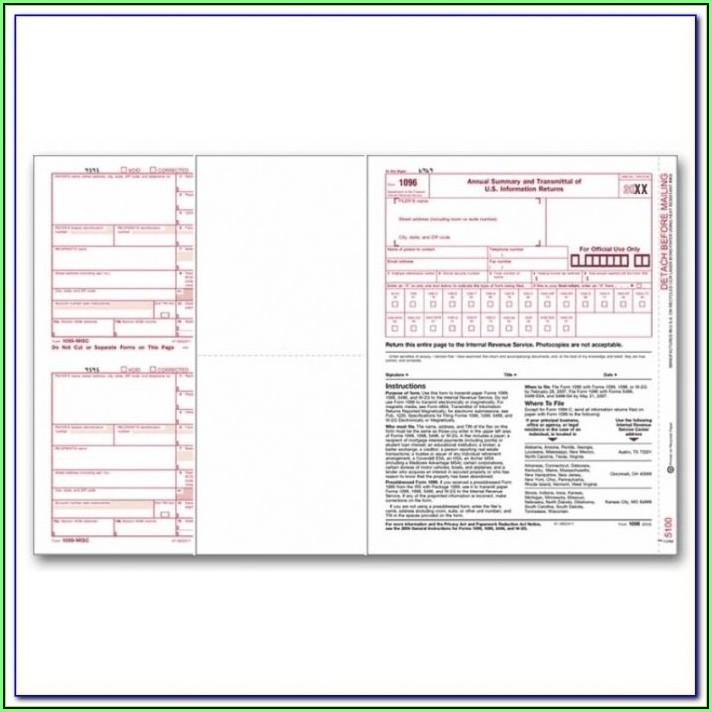 1099 Misc Tax Form Kit