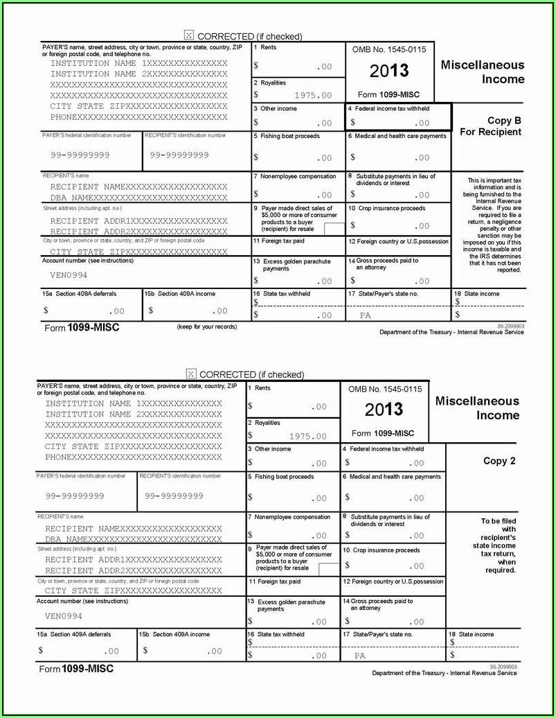 2016 Printable 1099 Tax Form