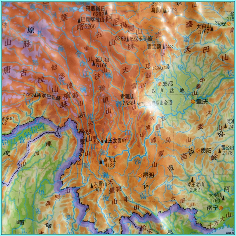3d Topographic Map Of China