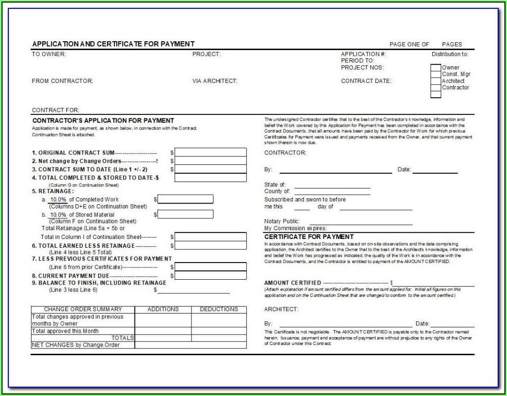 A1a Contractor Form