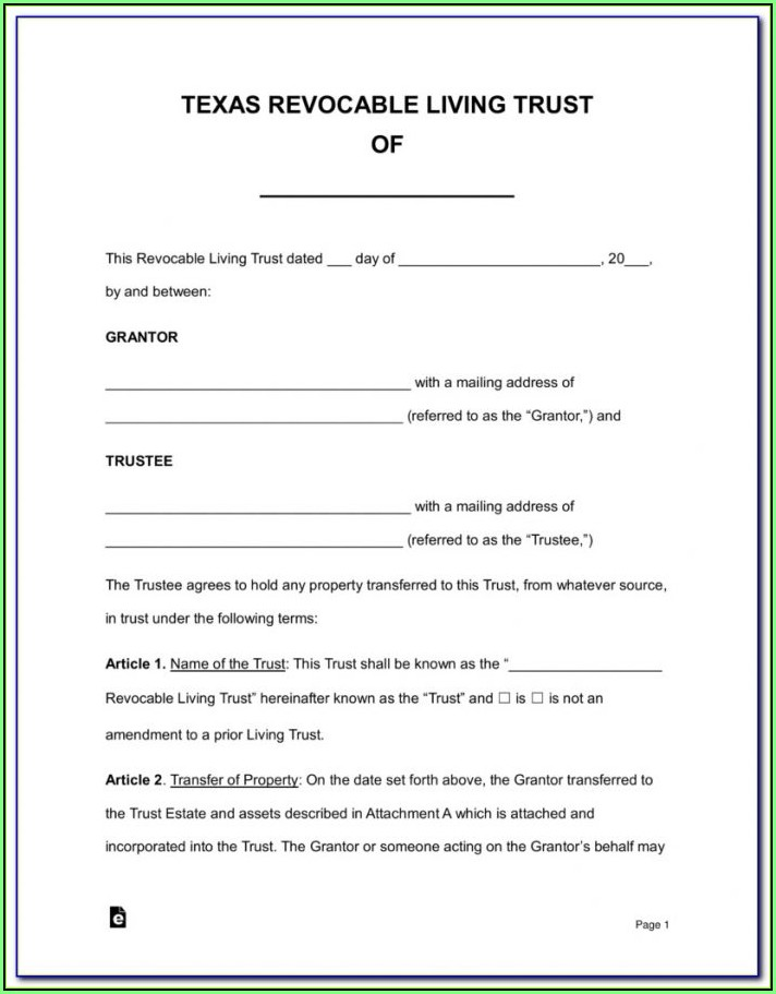 Aarp Living Trust Forms