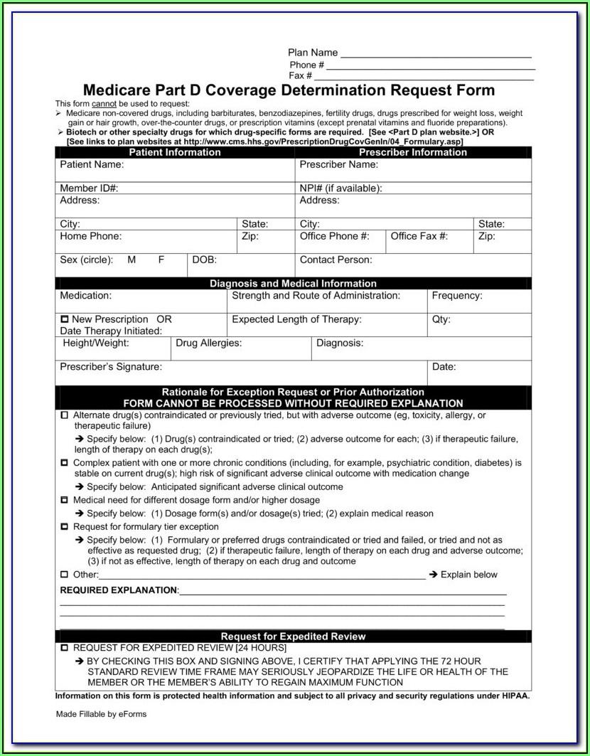 Aarp Medicare Prior Auth Form