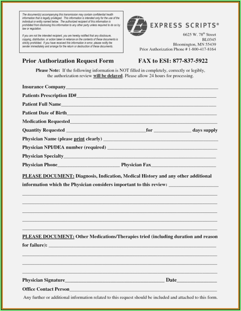 Aarp Medicare Prior Authorization Form