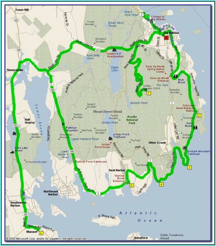 Acadia National Park Maps Pdf