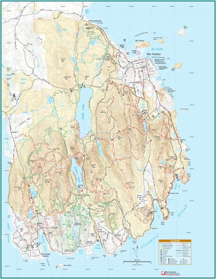 Acadia National Park Maps