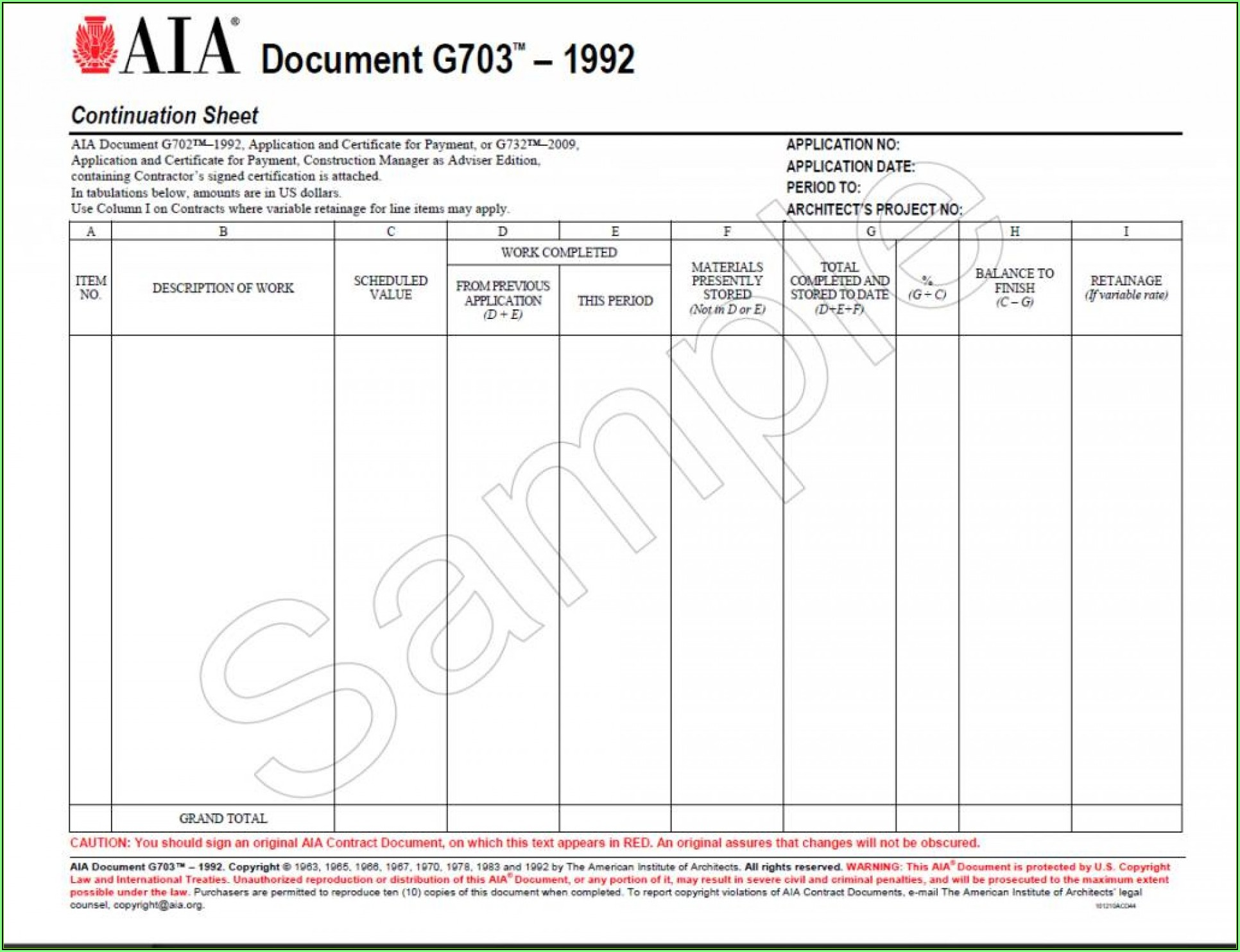 Aia Documents G702 And G703